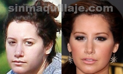 Ashley Tisdale sin maquillaje