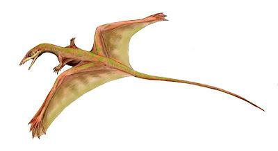 reptiles voladores prehistoricos Sharovipteryx