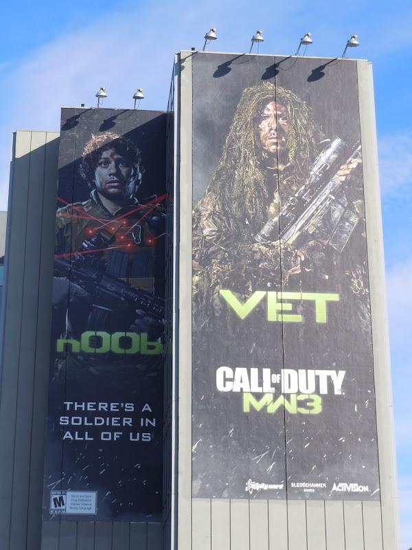 Noob Vet Call of Duty billboards