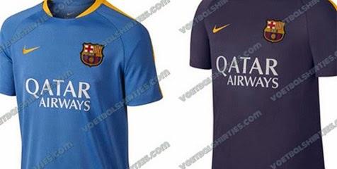 gambar jersey barcelona training musim depan