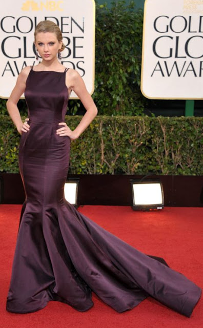 golden globes, 2013, taylor swift, donna karan, atelier