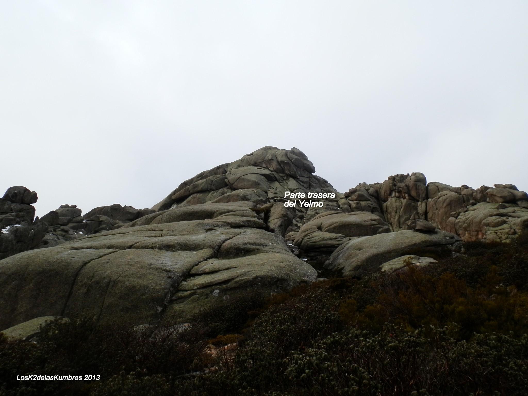Cara Norte del Yelmo, subida al geodesico, la pedriza