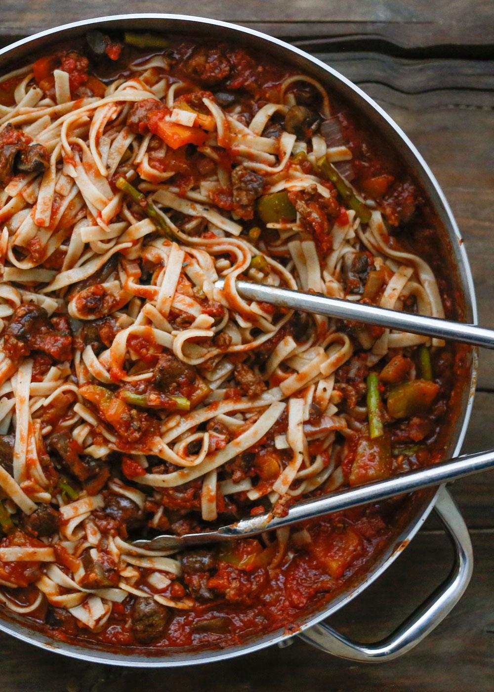 Vegetable Pasta | get the recipe at barefeetinthekitchen.com