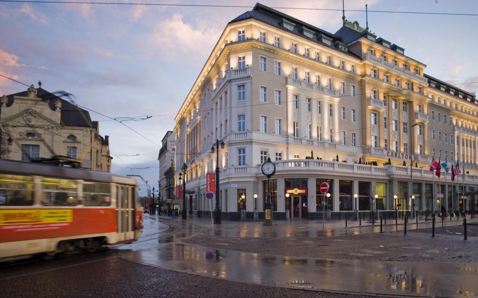 Building Street in Bratislava