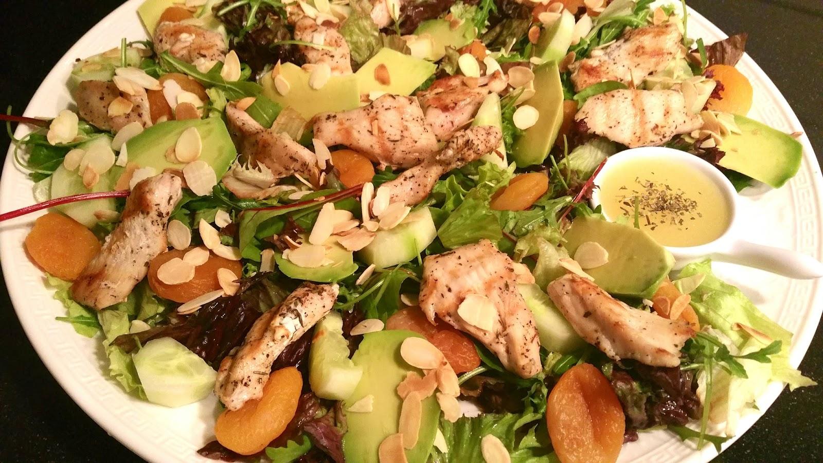 gegrilde kipfilet salade