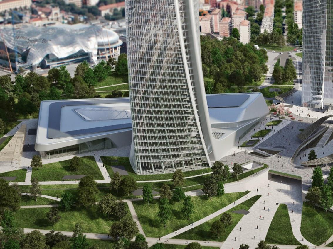 Urbanfile milano zona tre torri altri rendering per for Prezzi city life milano