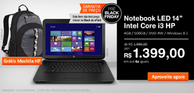Pré Black Friday Notebook Core i3 HP