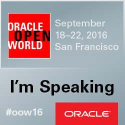 I'm Speaking at OOW