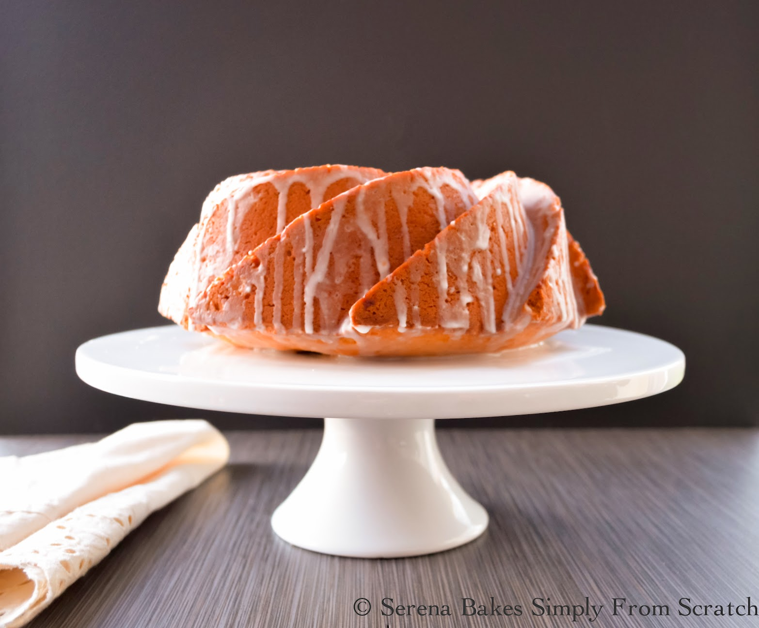 Lemon Lime Pound Cake with Lemon Lime Icing Drizzled Over The Top.