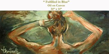 Fulfilled in Blue - Oleo s/tela