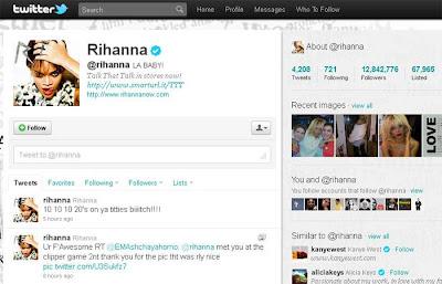 Twitter da Rihanna