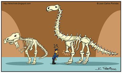 caricatura esqueleto dinosaurio