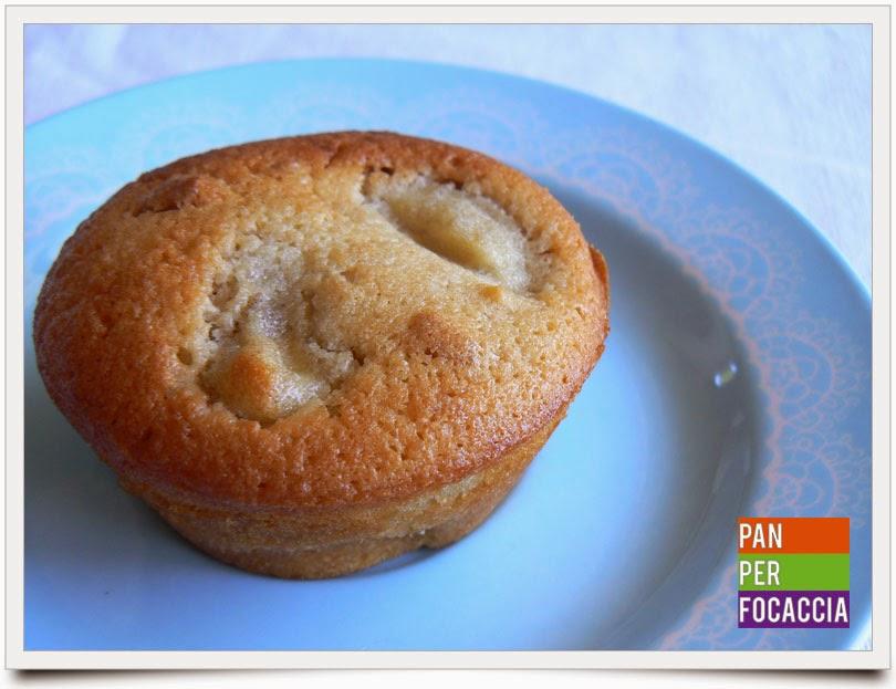 muffins con banane e noci
