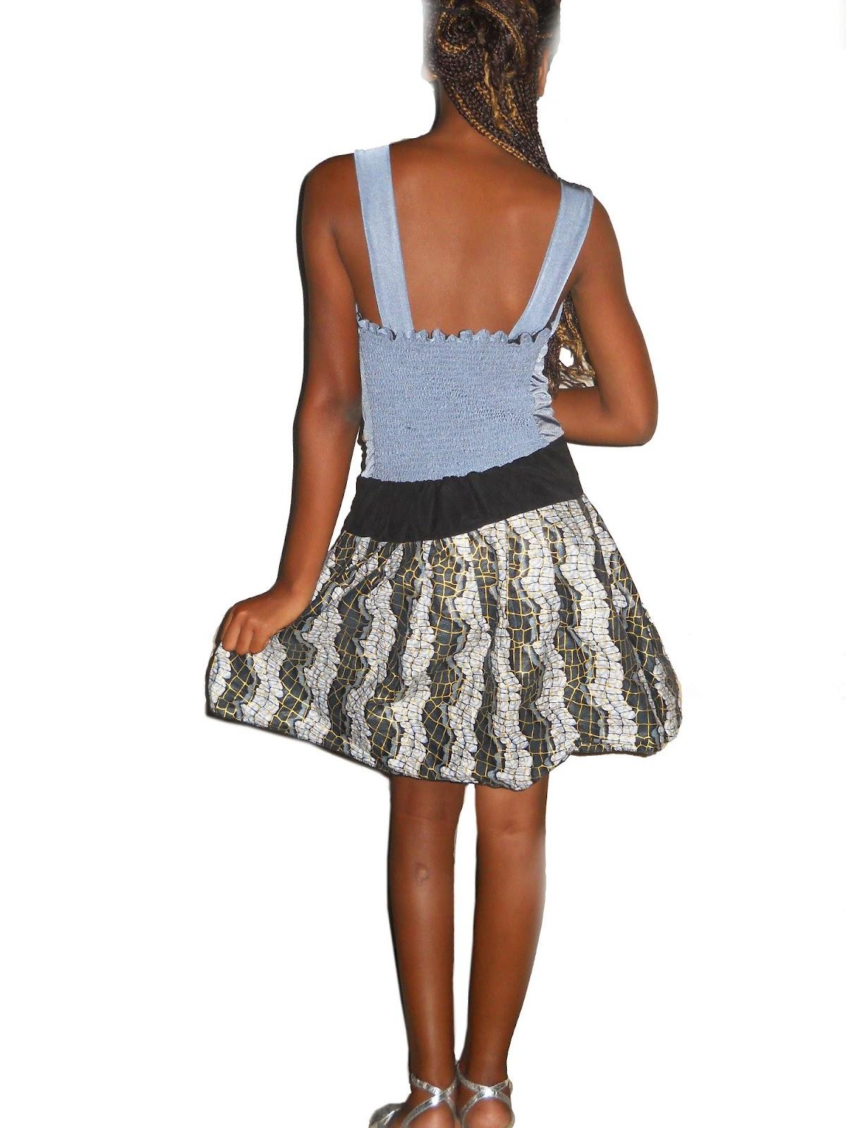 RINEEZ ARTS - African Culture Stuffs: Two-tones Dress