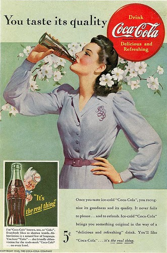 "In the early days, Coca Cola made you real ""happy"" - because it  contained cocaine among other ""happy"" ingredients."