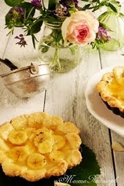 Banana and lemon tarts