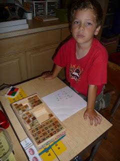 Practing spelling words with melissa doug deluxe alphabet st set