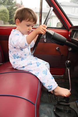 1968 Datsun 520 pickup interior.