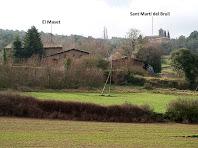 El Maset i Sant Martí del Brull des del Prat