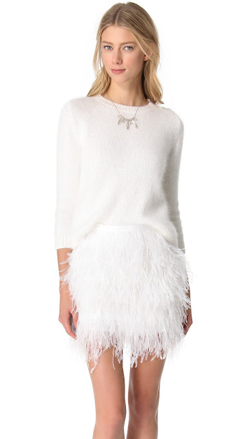 Jenni Kayne Crop Sweater and Feather Skirt