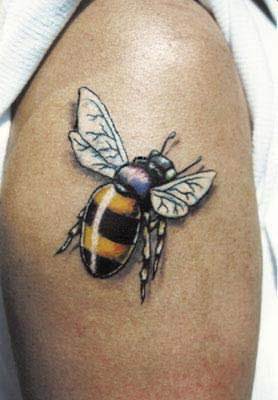 tattoo of large bee