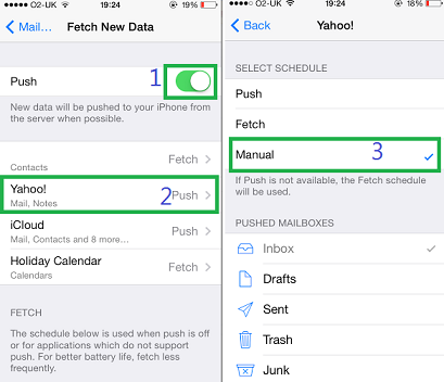 how to change message center number in iphone