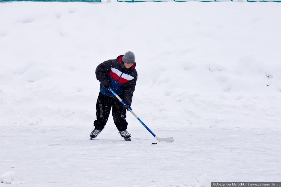 Начинающий хоккеист