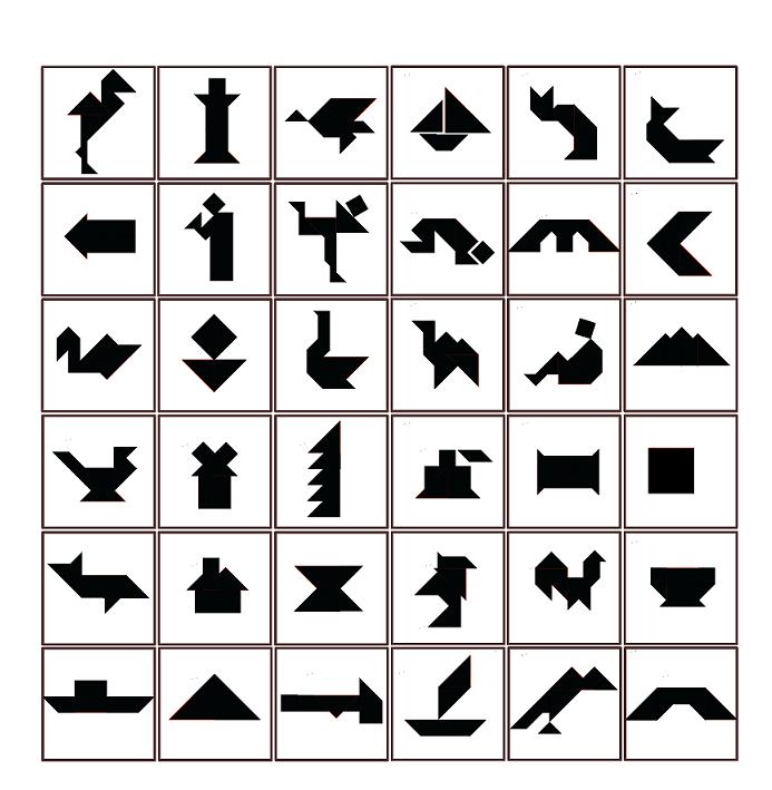 Tangram figures