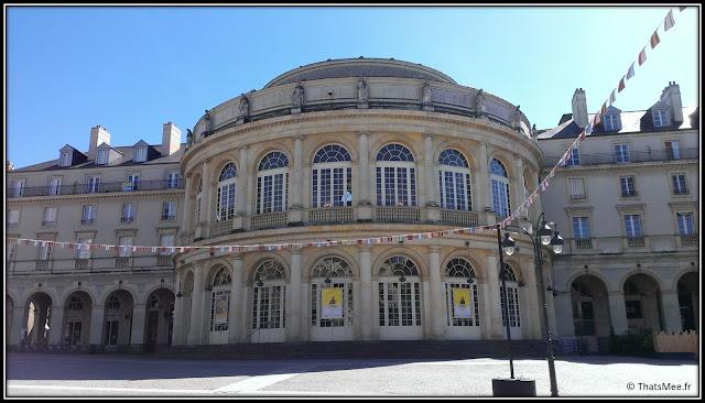 Rennes ville Opéra théâtre centre historique face mairie