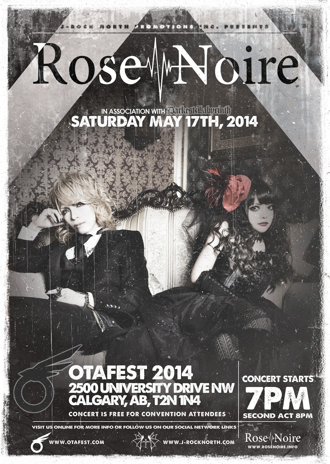 J-rock North Promotions Inc. Presents: Rose Noire At Otafest 2014