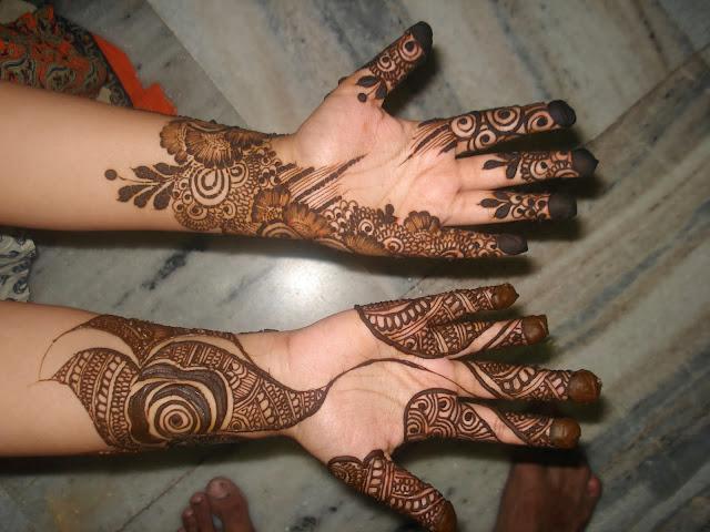 ... Girl Mehndi Designs.: Bridal mehndi designs for full hand front side