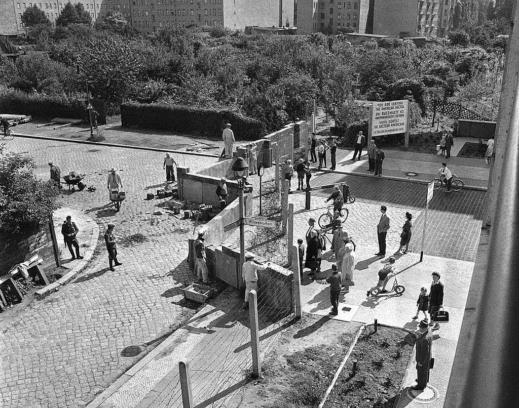 Construction photo of the Berlin Wall,Germany