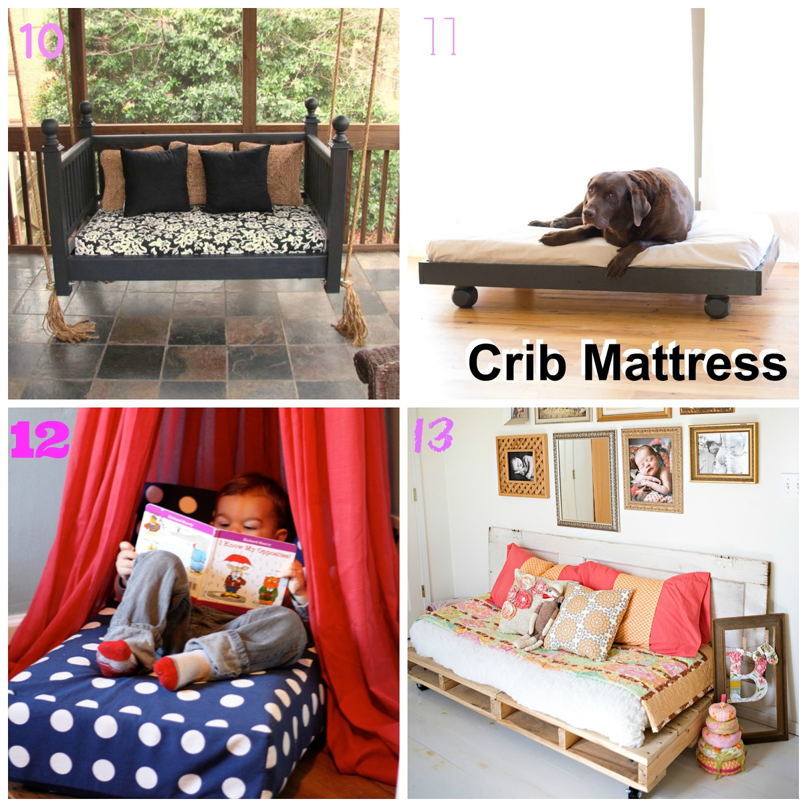 20 ways to upcycle a crib. Black Bedroom Furniture Sets. Home Design Ideas