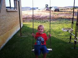 Swingin' by himself!