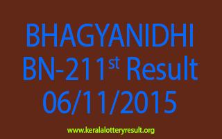 BHAGYANIDHI BN 211 Lottery Result 6-11-2015
