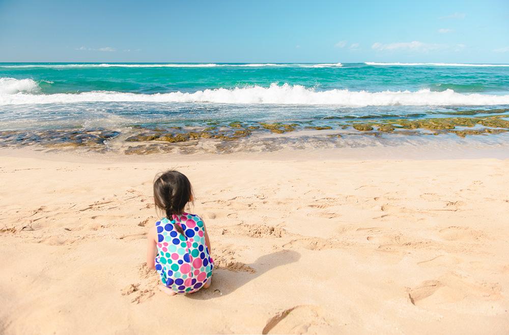 Turtle beach blue ocean white sand