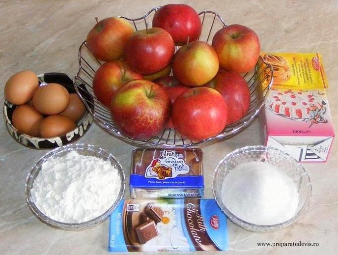 ingrediente tort de mere, ingrediente prajitura cu mere, retete culinare ingrediente,