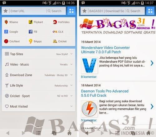 UC Browser, Perambaan Android Terbaik 2