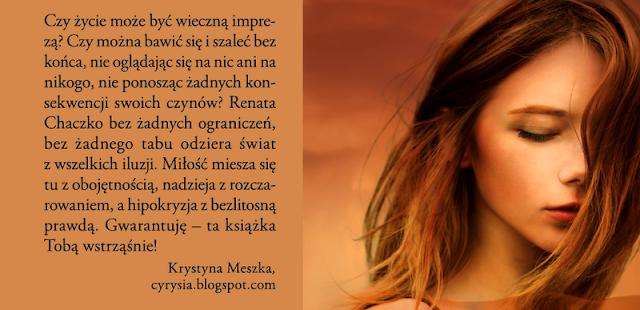 Aż do DNA - Renata Chaczko (zapowiedź) cyrysia LITERACKI ŚWIAT CYRYSI