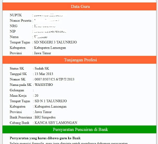 Title : Cara Cek SK Tunjangan Profesi Guru SKTP / Sertifikasi