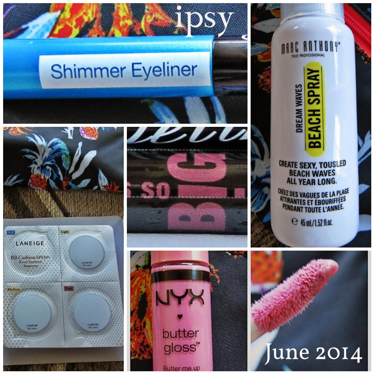 June 2014 Ipsy Glam Bag