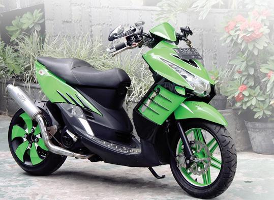 kumpulan Variasi Motor Mio Hijau