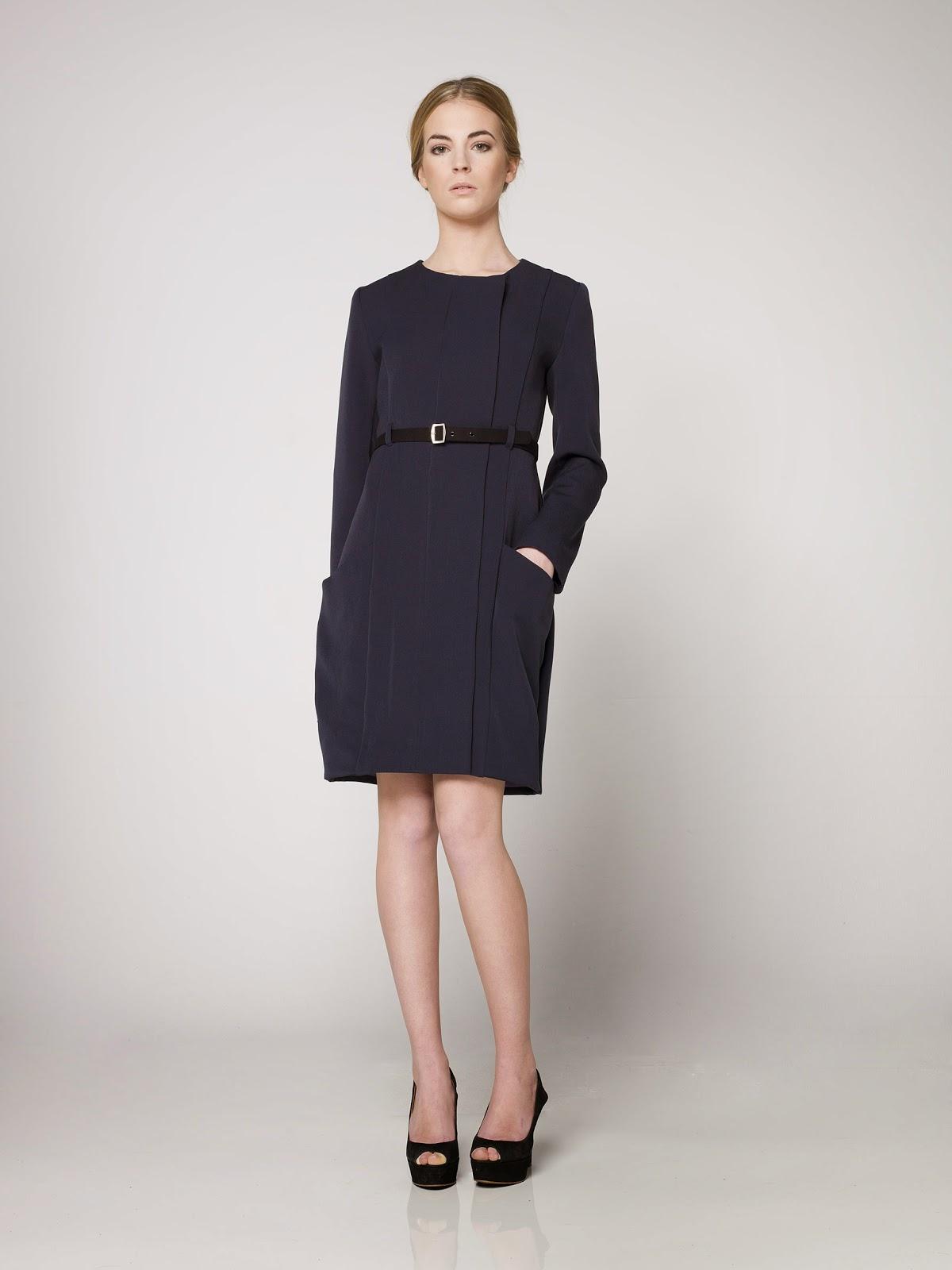 LYNBER - vestido azul marino