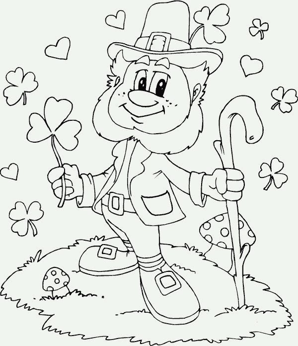 Saint Patrick's Day for Coloring, part 3