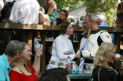 Princess Leia and Storm Trooper in the Sea Devil Tavern
