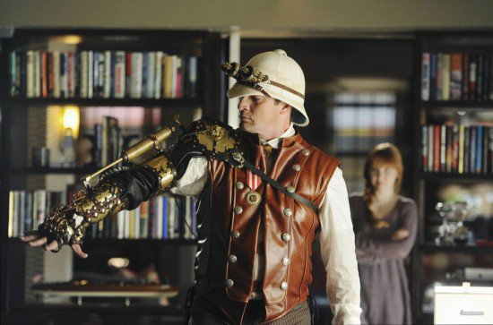 the noble hare steampunk mechanical arm worn by nathan fillion for sale. Black Bedroom Furniture Sets. Home Design Ideas