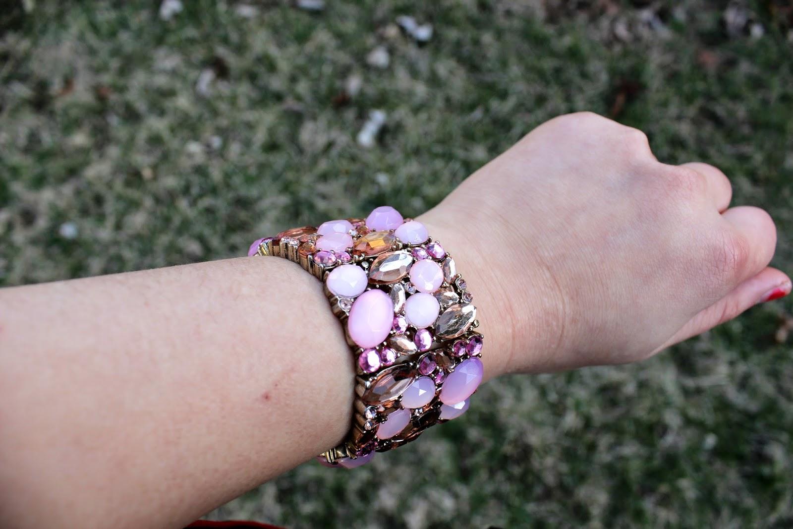 Forever 21 Rhinestone Bracelet