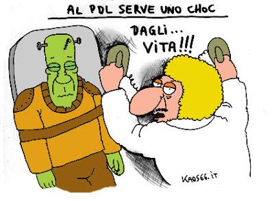 Vignetta crisi nel Pdl
