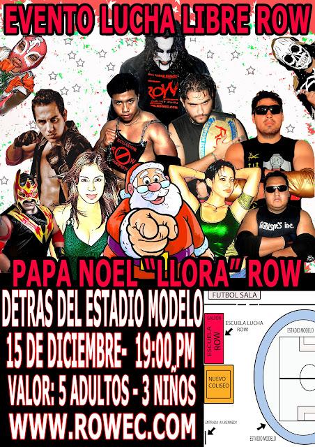 """ROW ECUADOR: Evento """"Papa Noel llora"""" 2"""