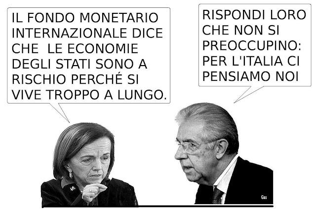 FMI, Fornero,  Monti e l'eccessiva durata della vita